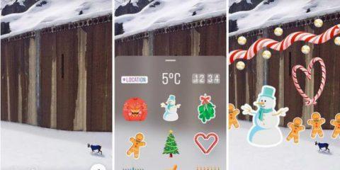 Natale, come scambiarsi gli auguri con i filtri natalizi di Facebook e Instagram