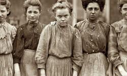 Donne operaie dell'industria tessile (Inghilterra, 1909)