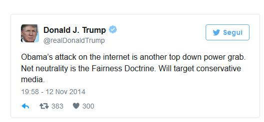 tweet Trump Net Neutrality