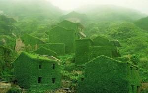 Villaggio di pescatori abbandonato nella Provincia dello Shengsi, Cina