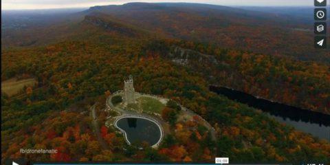 Videodroni. La Riserva Naturale di Mohonk (Stato di New York) vista dal drone