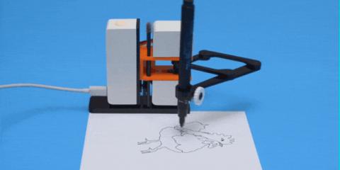Robot, 'Line-us' disegna e dipinge tutto ciò che vogliamo (Video)