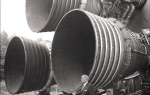 Wernher Von Braun with the Saturn 5 Rockets