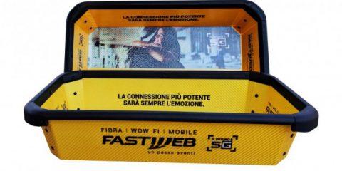 Comunicazione non convenzionale, Fastweb con One.Tray nei principali aeroporti Italiani