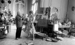 Brigitte Bardot meets Pablo Picasso, 1956.