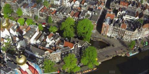 Videodroni. Amsterdam e Barcelona viste dal drone