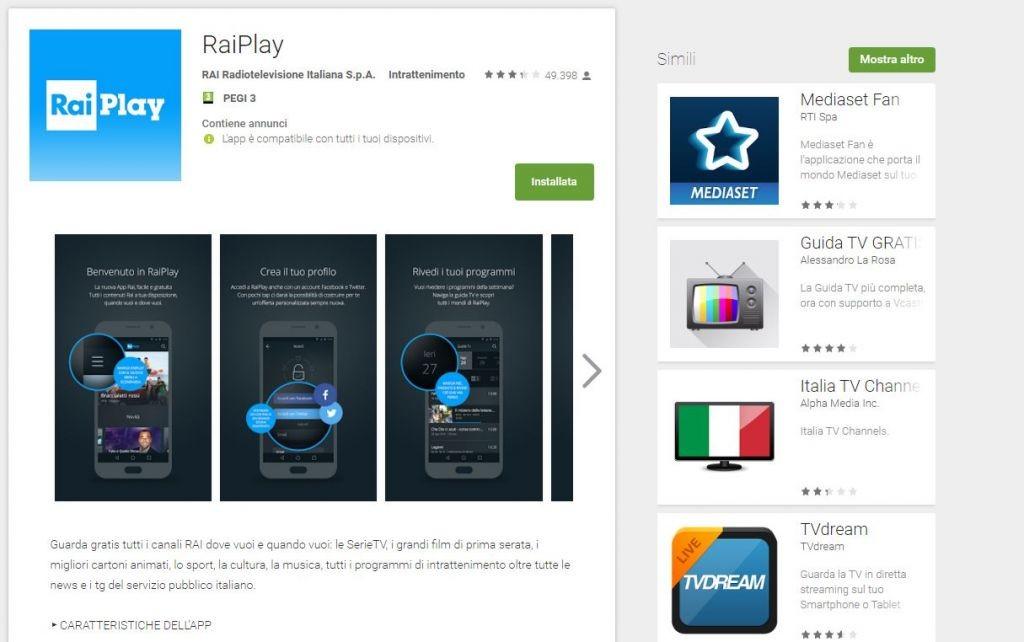 App4italy La Recensione Del Giorno Raiplay