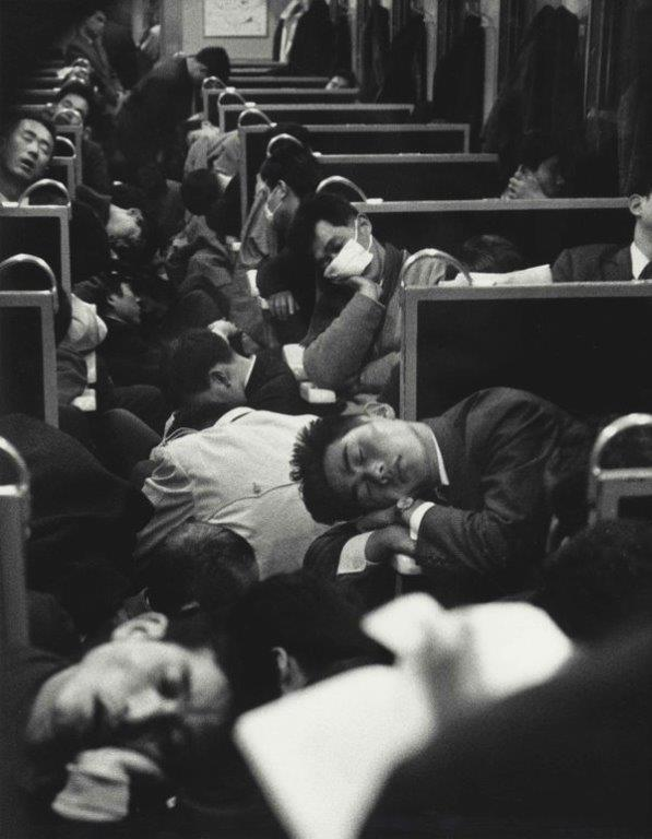 Early morning train in Japan, 1964.