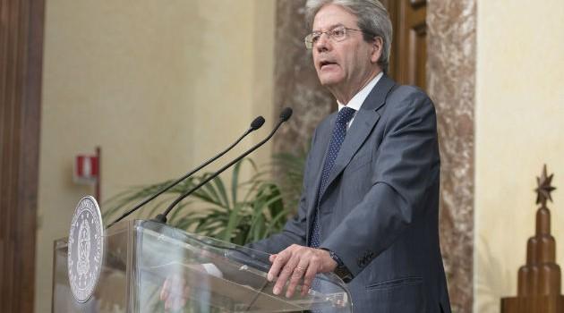 Gentiloni: Investimenti pubblici per 47 miliardi in 15 anni