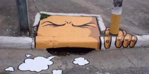 Allegria urbana: ecco come ti dipingo il marciapiede