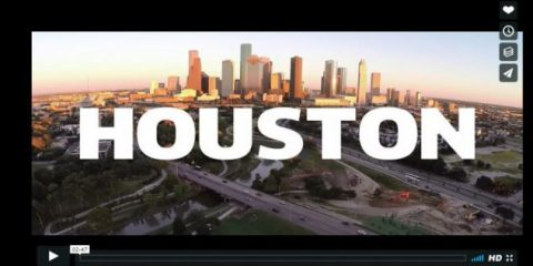 Videodroni. Houston (USA) vista dal drone
