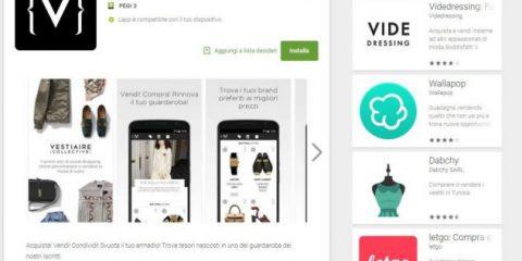 App4Italy. La recensione del giorno, Vestiaire Collective