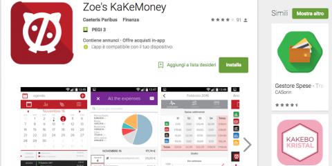 App4Italy. La recensione del giorno, Zoe's Kakebo