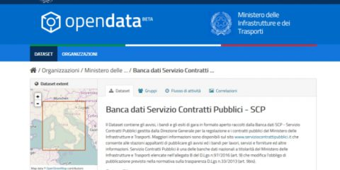 Open data, online la banca dati del Servizio contratti pubblici