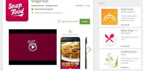 App4Italy. La recensione del giorno, Snapfood