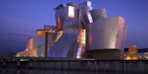 Videodroni. Bilbao (Spagna), il Guggenheim Museum visto dal drone