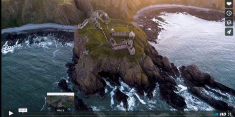 Videodroni. Il Castello di Dunnottar visto dal drone
