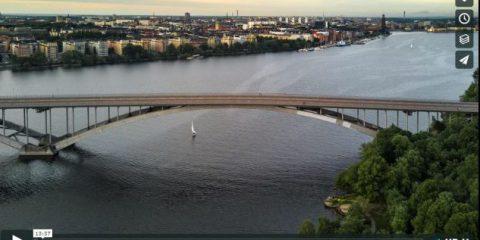 Videodroni. Stoccolma vista dal drone