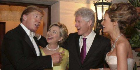 Rimpatriate: Carramba che sorpresa! I Clinton al matrimonio di Donald con Melania