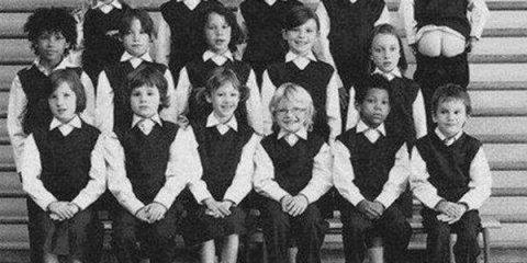 Ironia infantile: Il migliore sembra essere quello con l'espressione irriverente in alto a destra (Scuola di Boston nel 1973)