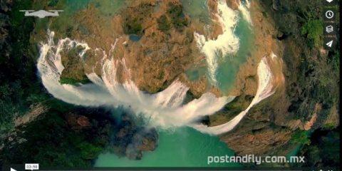 Videodroni. Le cascate di Huasteca (Messico) viste dal drone