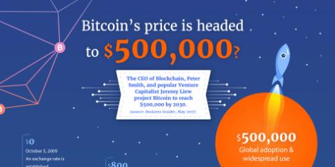 Bitcoin, nel 2030 varrà davvero 500,000$?