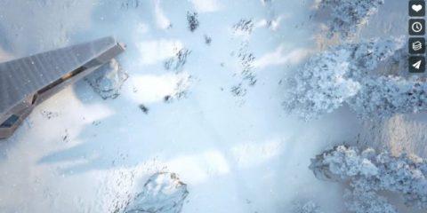 Videodroni. Neve, foresta e chalet. Un tocco di classe a bordo del drone