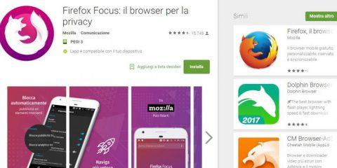 App4Italy. La recensione del giorno, Firefox Focus