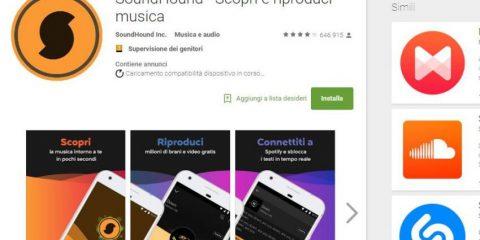 App4Italy. La recensione del giorno, SoundHound