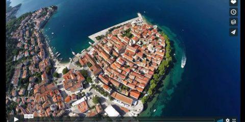 Videodroni. Korcula (Croatia) vista dal drone