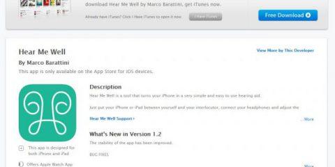 App4Italy. La recensione del giorno, Hear Me Well