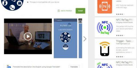 App4Italy. La recensione del giorno, Autentico NFC