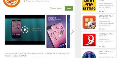 App4Italy. La recensione del giorno, Prediction Launcher