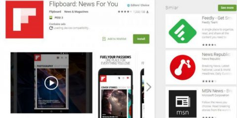 App4Italy. La recensione del giorno, Flipboard