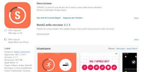 App4Italy. La recensione del giorno, Streaks