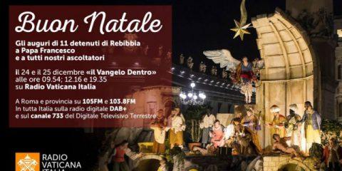 Radio Vaticana, gli auguri di Natale a Papa Francesco dai detenuti di Rebibbia (audio)