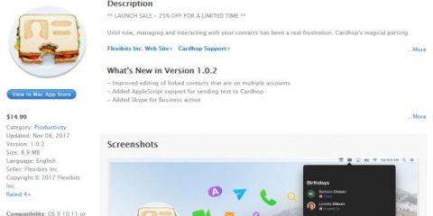 App4Italy. La recensione del giorno, Cardhop