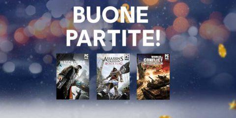Ubisoft regala tre videogiochi PC per Natale