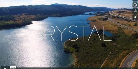 Videodroni. Il Crystal Springs Reservoir (California) visto dal drone