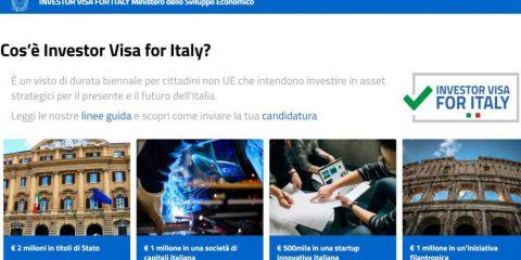 Investimenti, il Mise lancia la piattaforma elettronica 'Investor Visa for Italy'