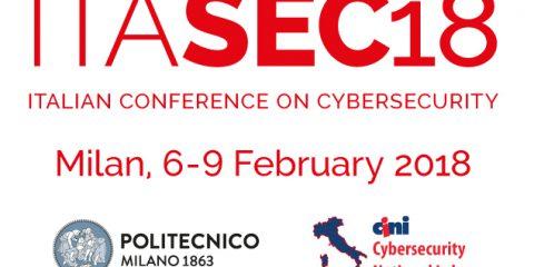 ITASEC18, dal 6 al 9 febbraio torna a Milano la conferenza nazionale sulla cybersecurity