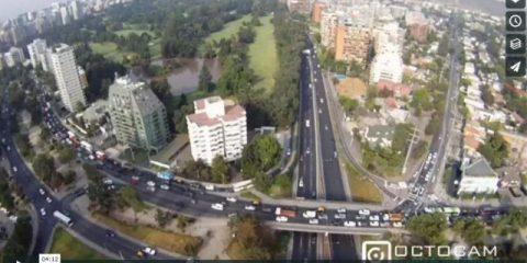 Videodroni. Santiago del Cile vista dal drone