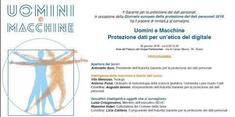 Giornata europea della data protection, appuntamento il 30 gennaio a Roma