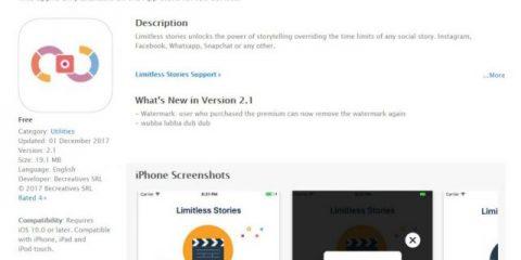 App4Italy. La recensione del giorno, Limitless Stories