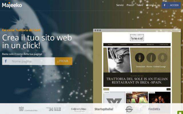 Crea il tuo sito web con semplice un click for Crea il tuo sito web personale