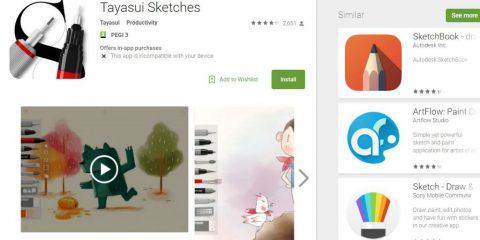 App4Italy. La recensione del giorno, Tayasui Sketches