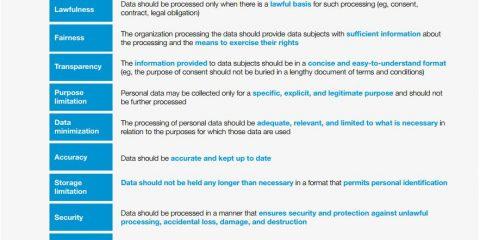 GDPR: i 9 principi guida da seguire per la protezione dei dati