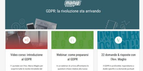 MailUp, online l'hub di contenuti speciali sul GDPR