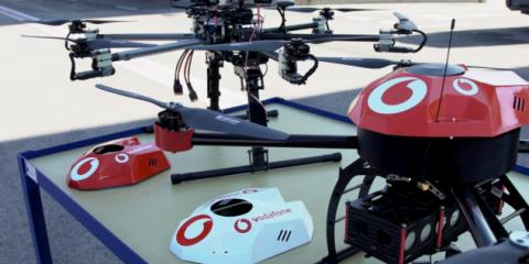 Vodafone, un sistema IoT 4G per la sicurezza dei droni e il controllo dei cieli