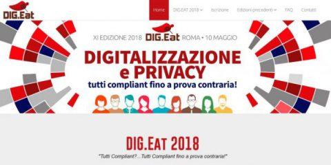 DIG.Eat11, ultimi giorni per iscriversi all'evento di Roma su digitalizzazione e privacy